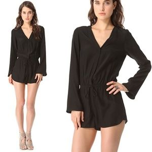 Parker Long Sleeve Silk Romper